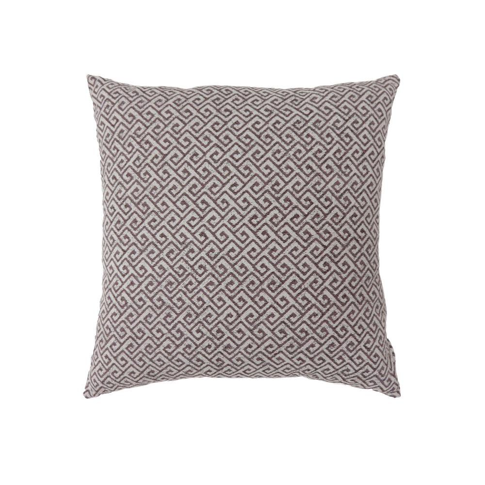 Ricki 18 in. Contemporary Throw Pillow in Brown (Pack of 2)