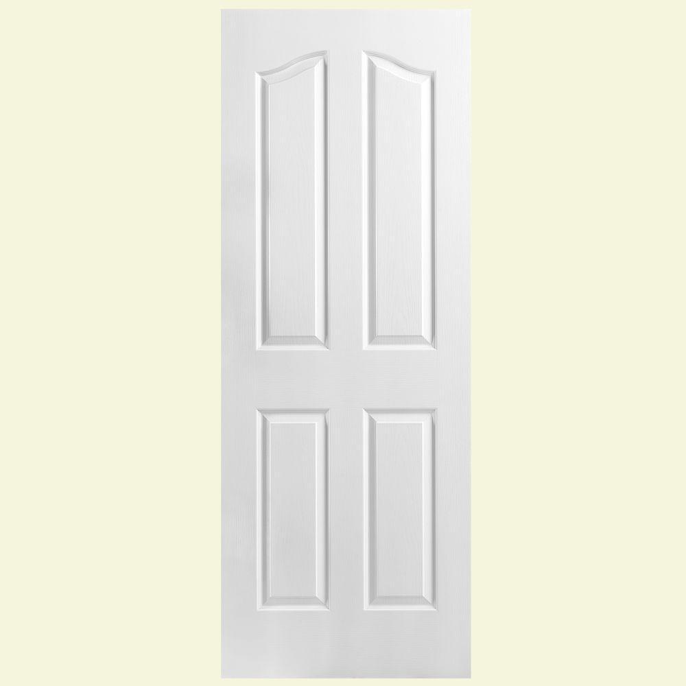 Masonite Textured 4-Panel Hollow Core Primed Composite Interior Door Slab-DISCONTINUED