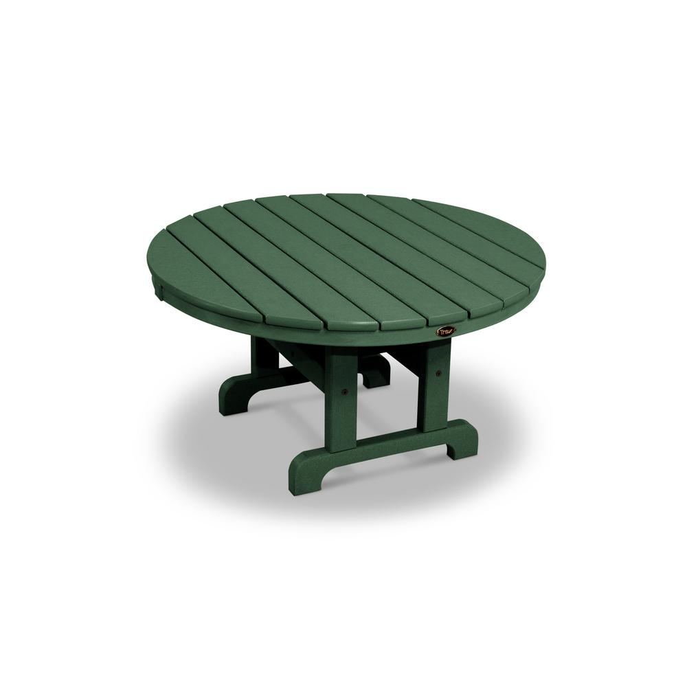Cape Cod Rainforest Canopy 36 in. Round Patio Conversation Table