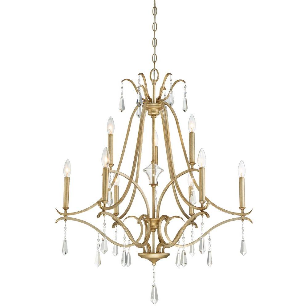 Minka Lavery Laurel Estate 9-Light Brio Gold Chandelier