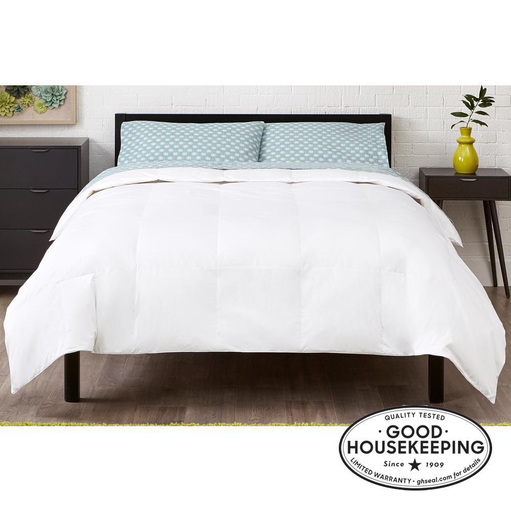 Light Weight Down Alternative Cotton White Twin Comforter