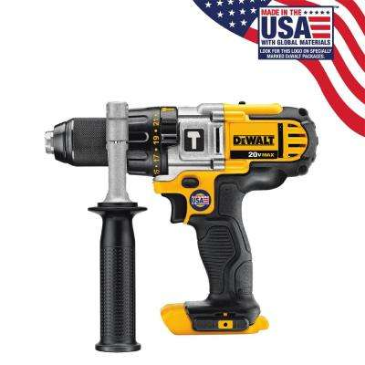 20-Volt MAX Lithium-Ion Cordless 1/2 in. Hammer Drill/Drill Driver (Tool-Only)