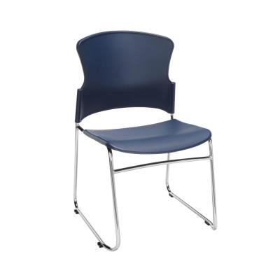 Core Collection in Navy Multi-Use Plastic Stack Chair (Pack of 4)