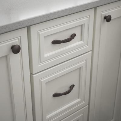 Essentials Twisted Arch 3 in. (76mm) Center-to-Center Dark Oil Rubbed Bronze Drawer Pull (10-Pack)