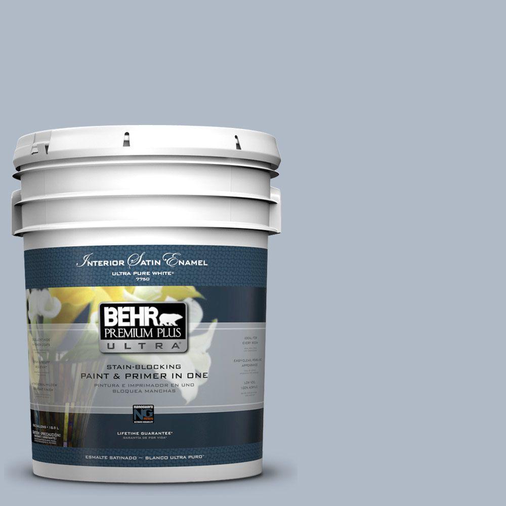 BEHR Premium Plus Ultra 5-gal. #PPU14-12 Hazy Skies Satin Enamel Interior Paint
