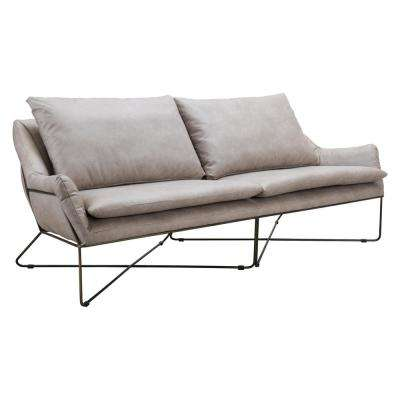 Finn Gray Sofa Distressed