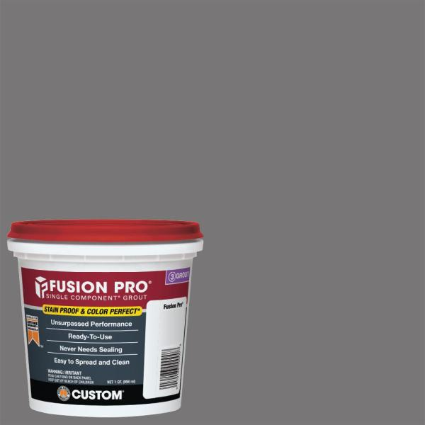 Fusion Pro #19 Pewter 1 qt. Single Component Grout