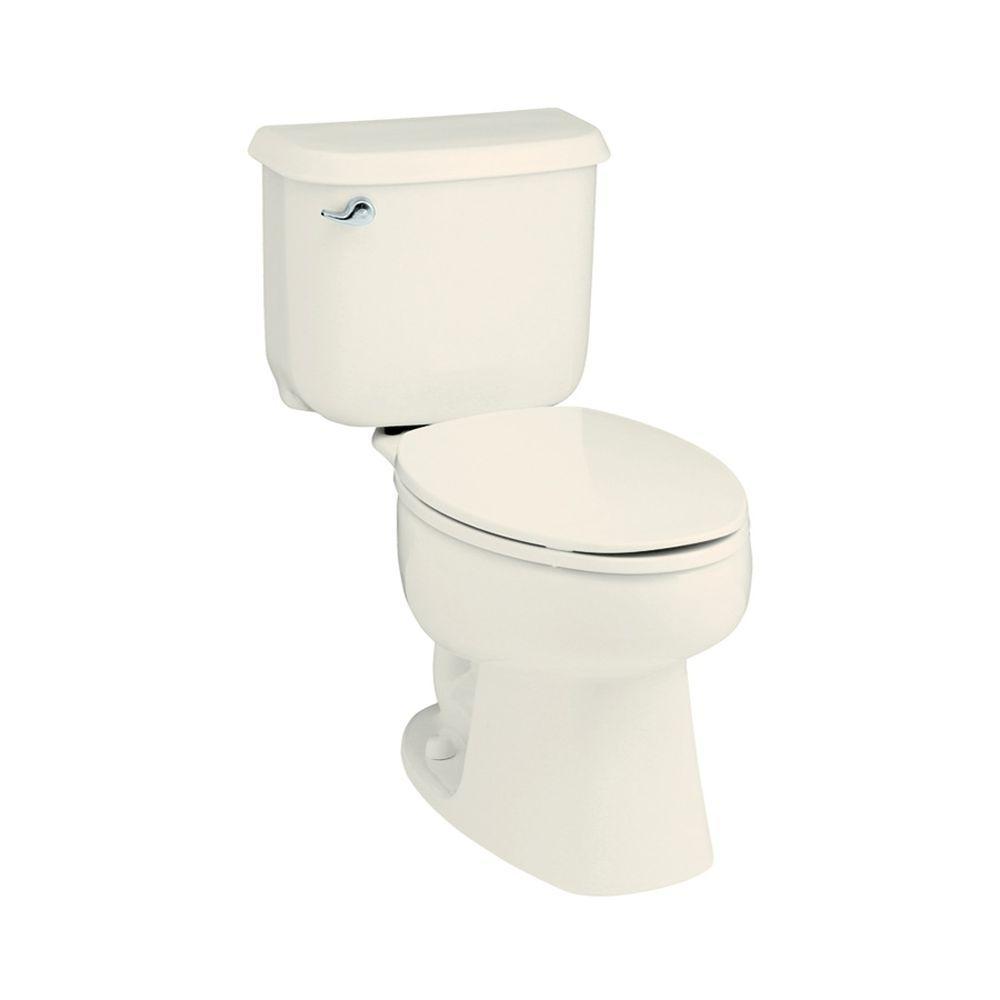 STERLING Windham 2-piece 1.28 GPF High-Efficiency Round Toilet in Biscuit