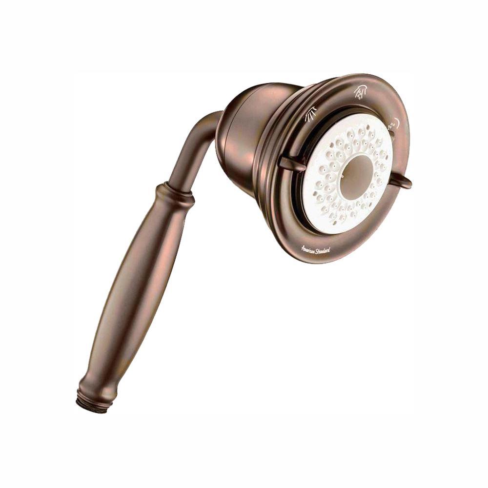 FloWise 3-Spray 4.5 in. Single Wall Mount Handheld Shower Head in Oil Rubbed Bronze