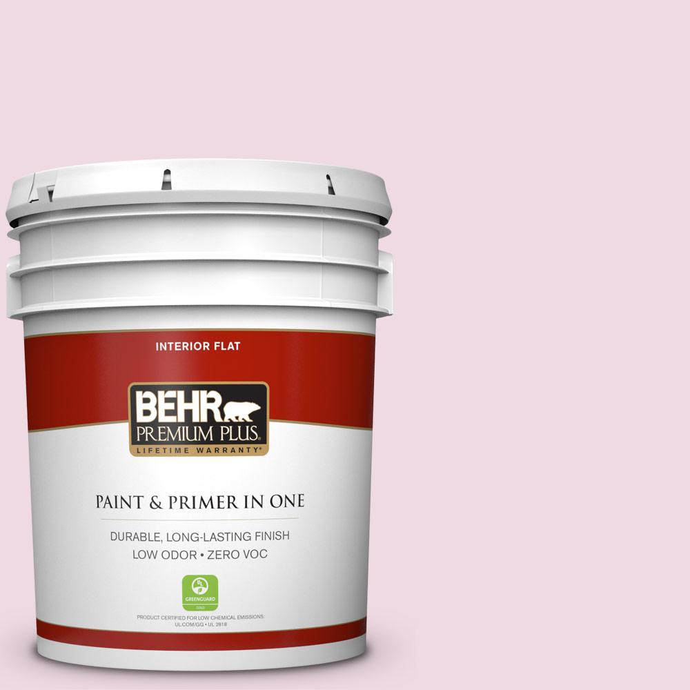 BEHR Premium Plus 5-gal. #M130-1 Pink Posies Flat Interior Paint