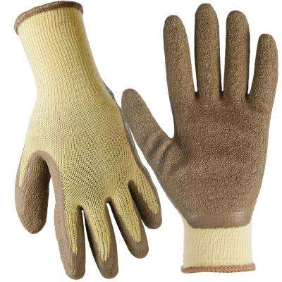X-Large General Purpose Latex Coated Gloves (10-Pair)
