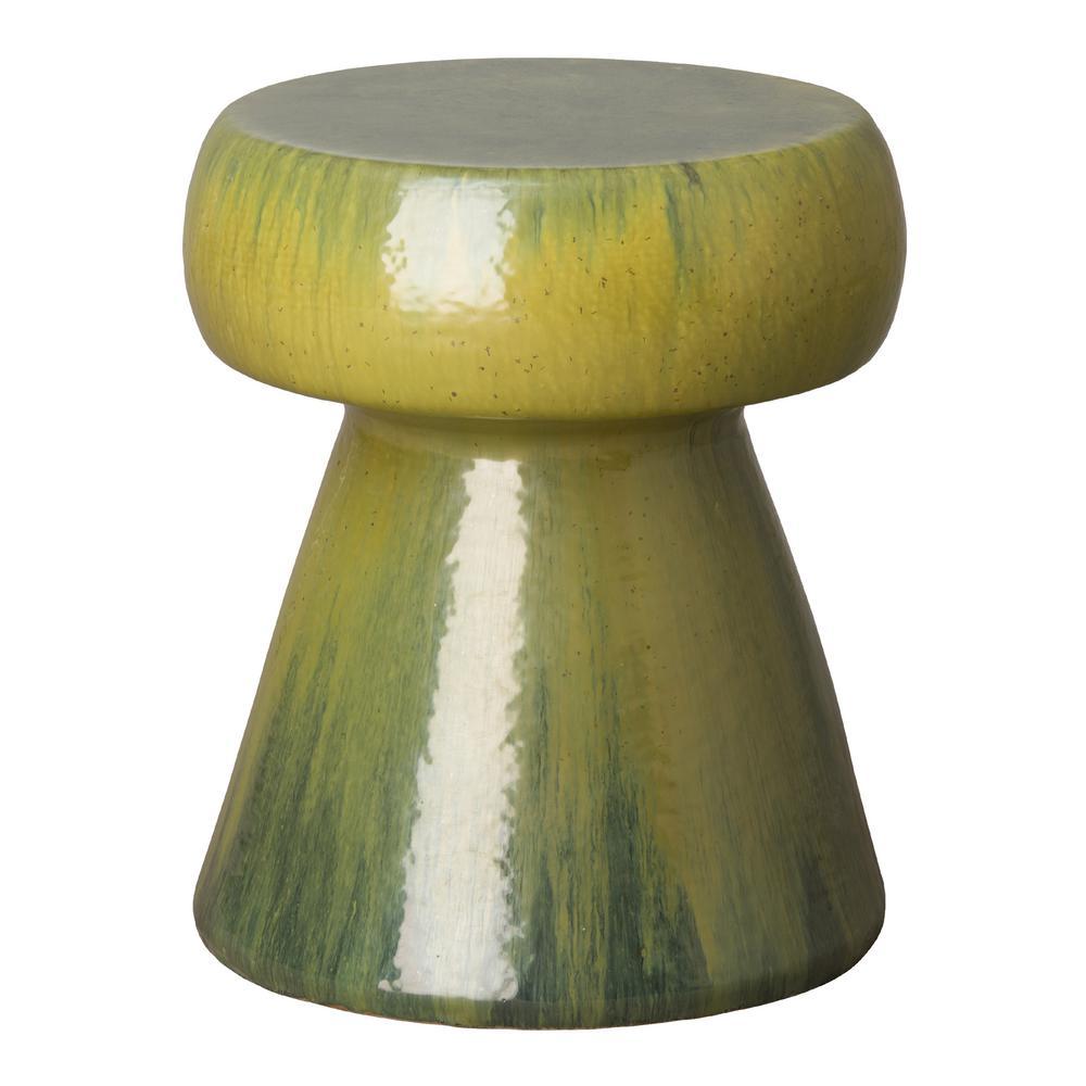 Portobello Tea Green Round Ceramic Garden Stool