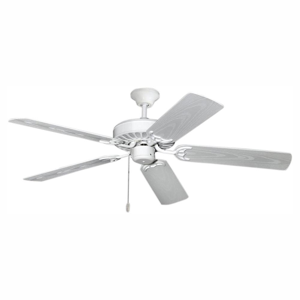 TroposAir ProSeries Builder 52 in. Pure White Outdoor Ceiling Fan