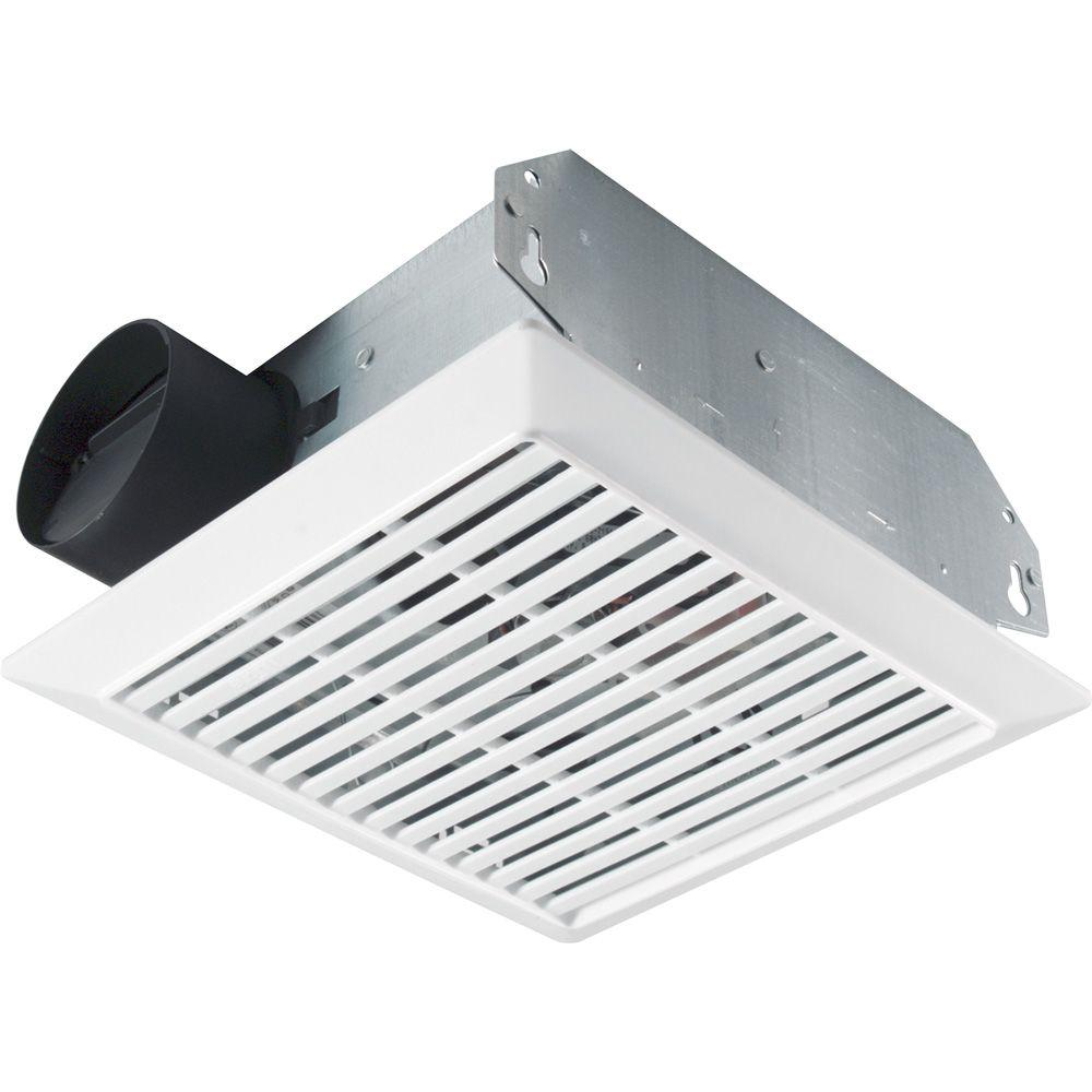 Nutone 70 cfm wall ceiling mount exhaust bath fan 695 the home depot for Exterior mounted exhaust fans for bathroom