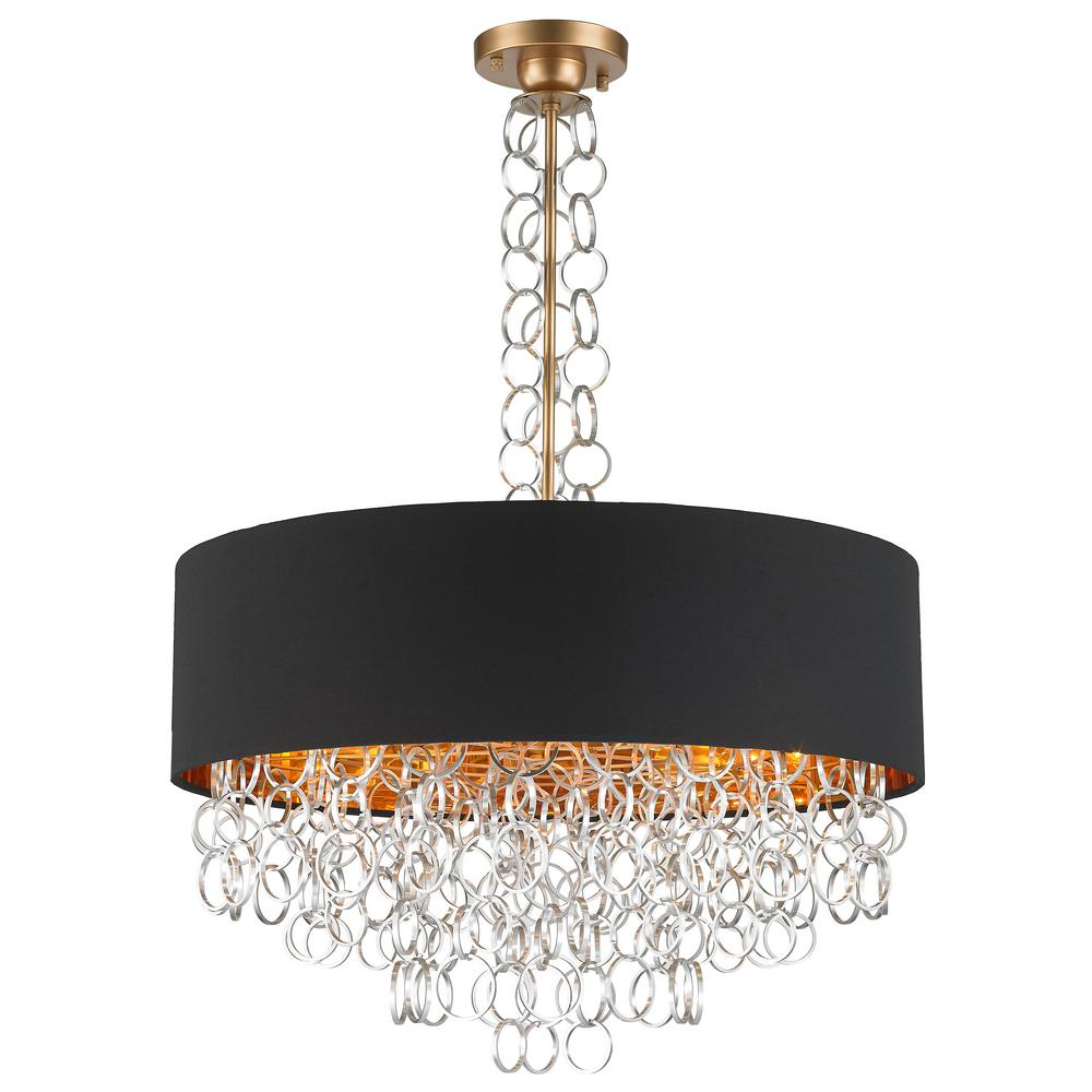 Worldwide Lighting Catena 8 Light Matte Gold Pendant