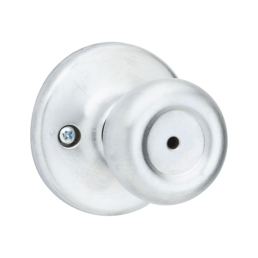 Kwikset Tylo Satin Chrome Bed/Bath Knob
