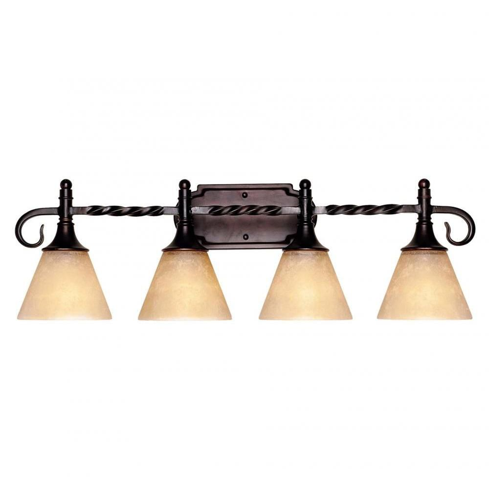 Dela 4-Light English Bronze Bath Vanity Light