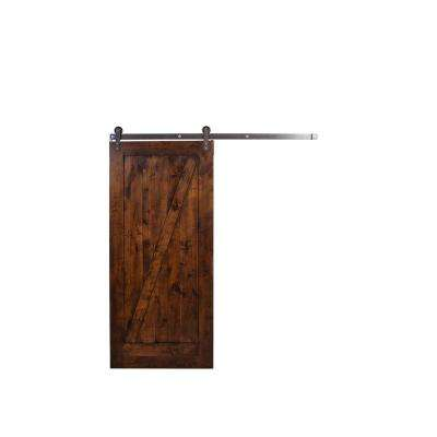 3 Ft. 6 In. X 7 Ft. Unassembled Z Barn Door In