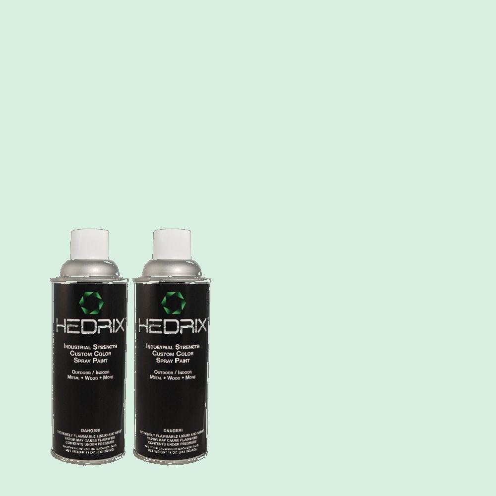 Hedrix 11 oz. Match of 2B55-1 Sea Crystal Semi-Gloss Custom Spray Paint (2-Pack)