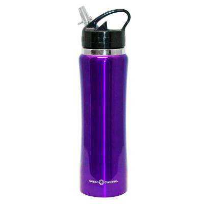 25 oz. Purple Stainless Steel Double Wall Thermal Vacuum Bottle (6-Pack)