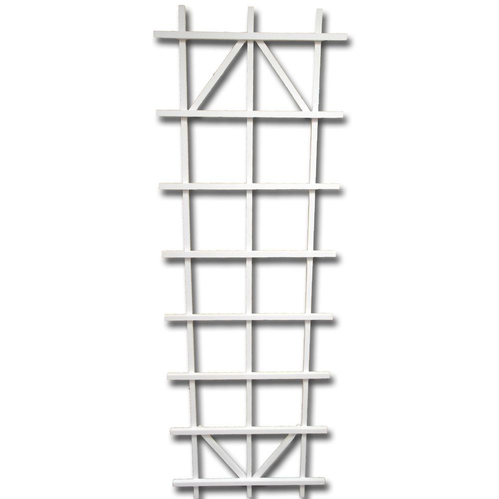72 in. White Wood Ladder Trellis-26210 - The Home Depot