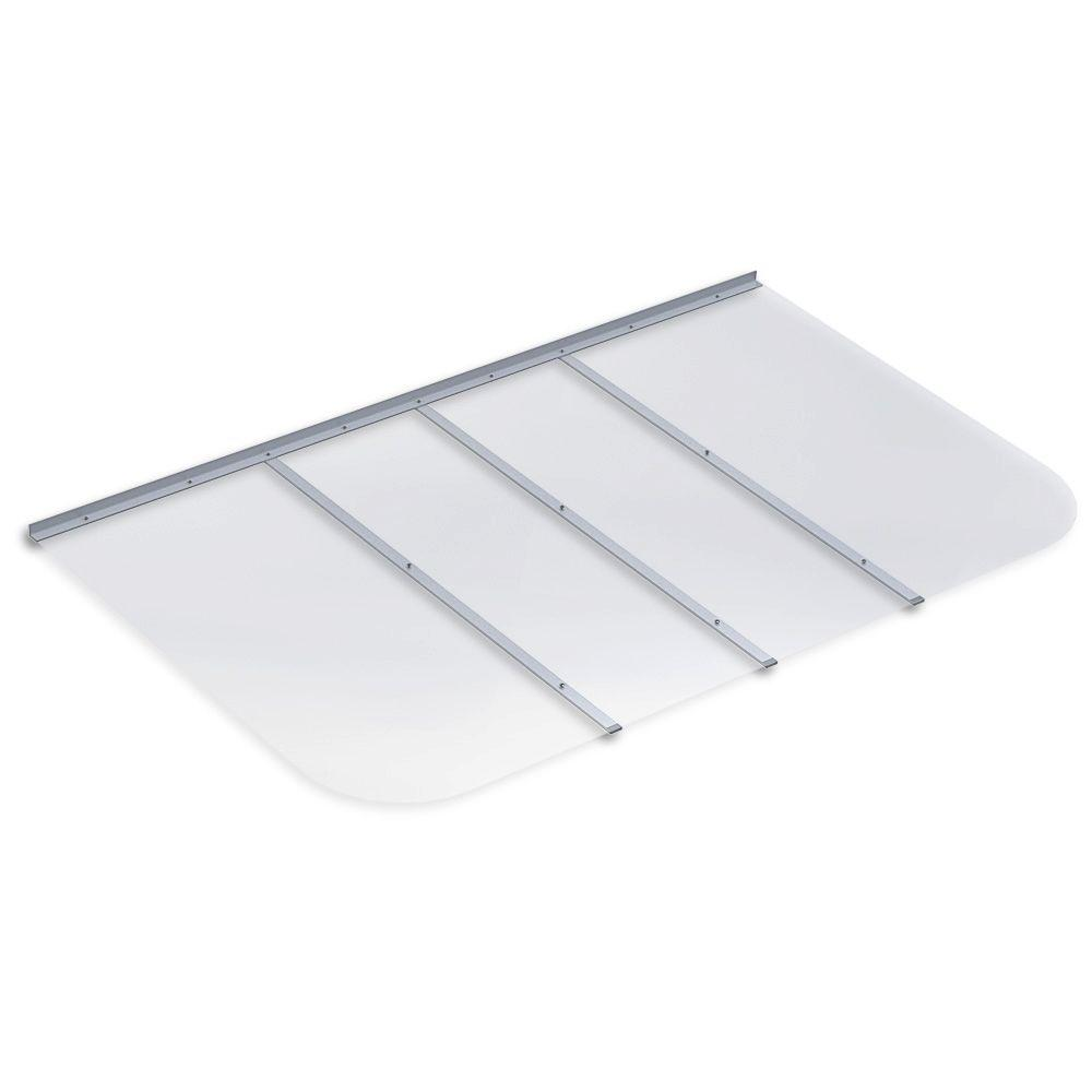 69 in. x 42 in. Rectangular Clear Polycarbonate Window Well Cover