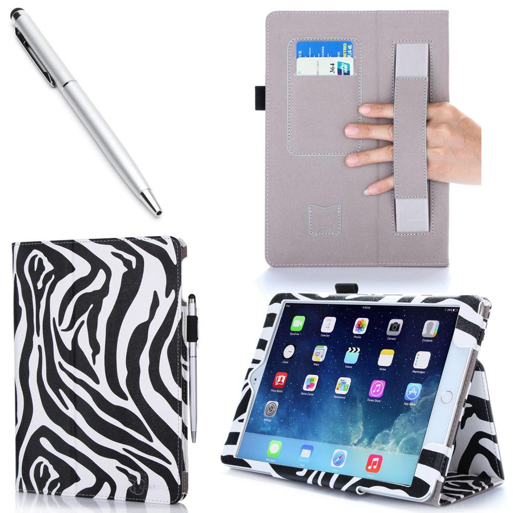 i-Blason 1 Fold Lather Case for iPad Air 2, Zebra