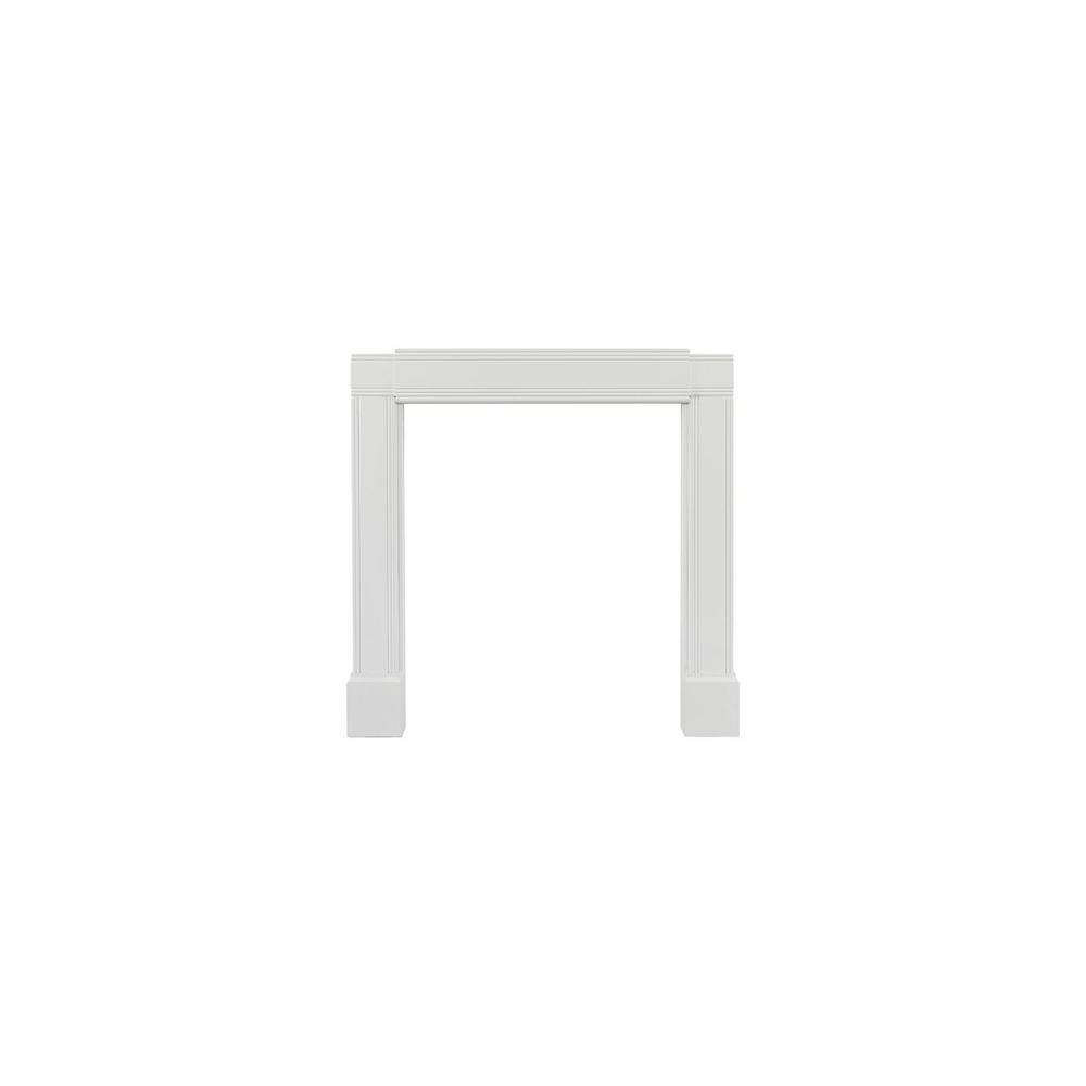 pearl mantels emory 55 in x 80 in adjustable mdf white full