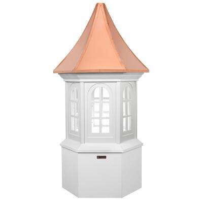 Smithsonian Georgetown 30 in. x 67 in. Vinyl Cupola with Copper Roof