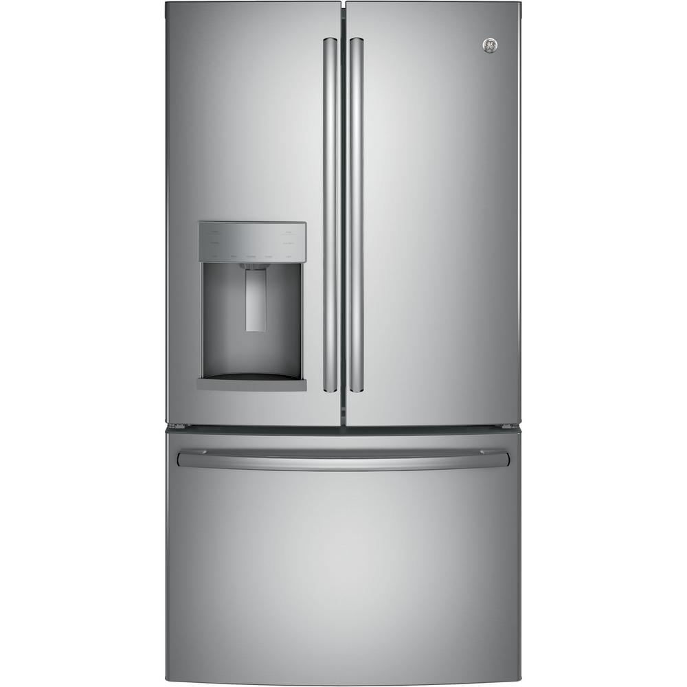 GE 25.8 cu. ft. French Door Refrigerator in Stainless Steel Ge Ice Maker Dispenser Wiring Schematic on