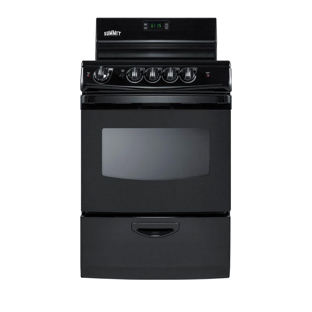 Electric Kitchen Stoves At Home Depot ~ Summit appliance in cu ft electric range black