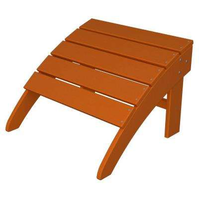 South Beach Tangerine Adirondack Patio Ottoman