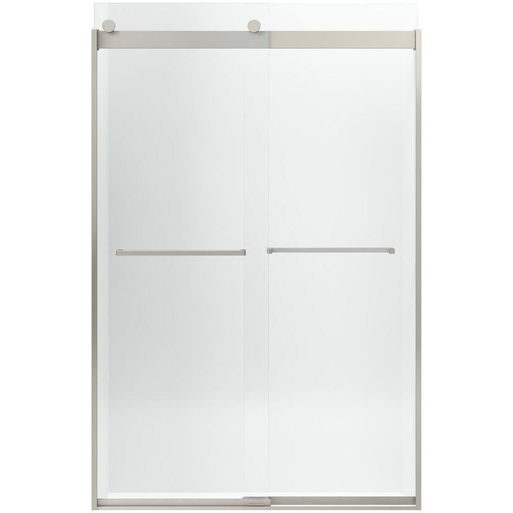 Levity 26 in. x 74 in. Shower Door in Nickel