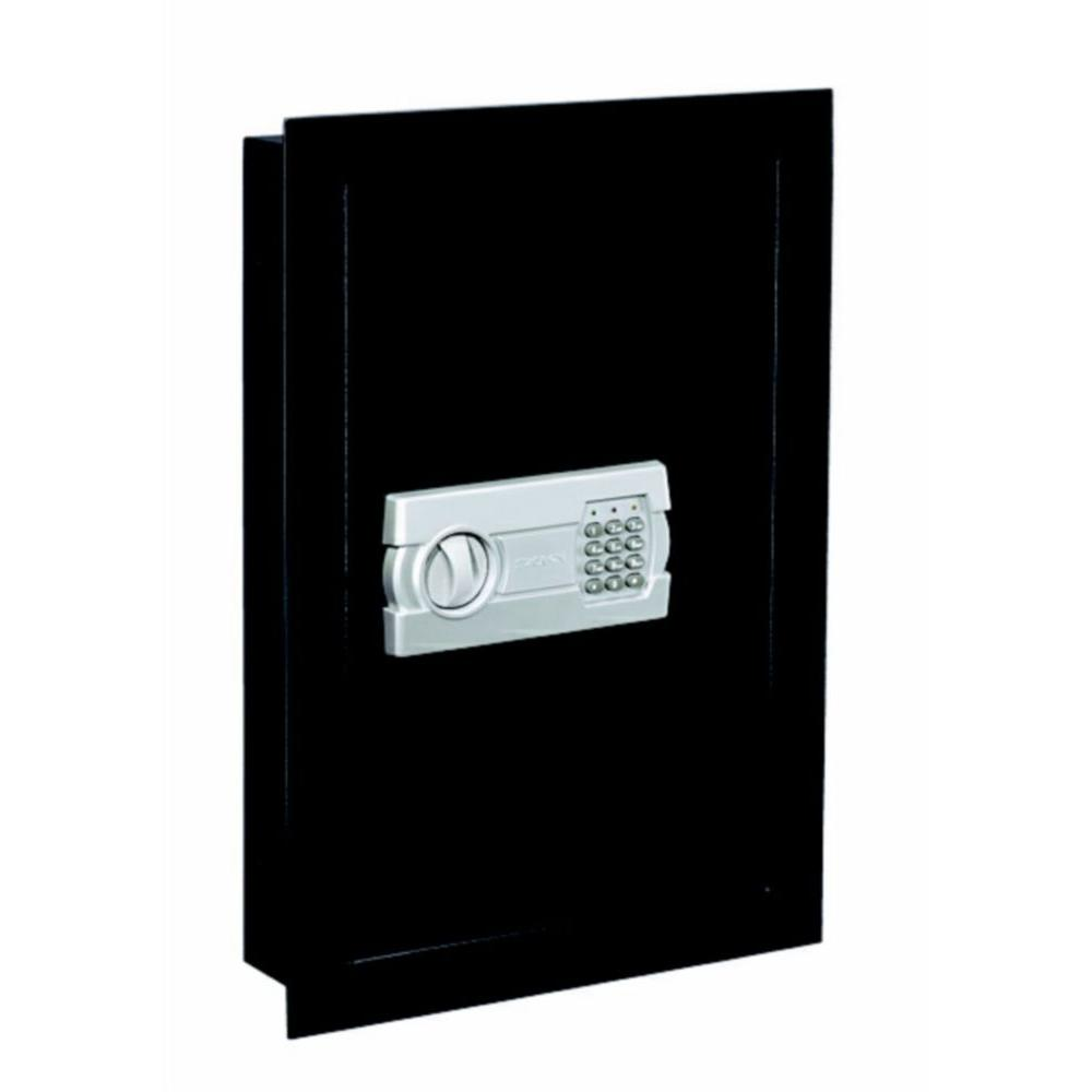 Stack-On Wall Safe with Electronic Lock in Black