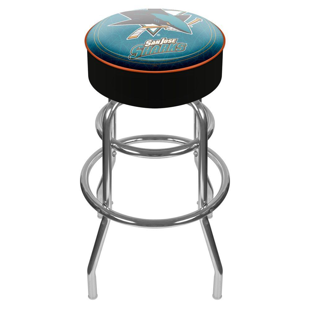 Trademark NHL San Jose Sharks Padded Swivel Bar Stool