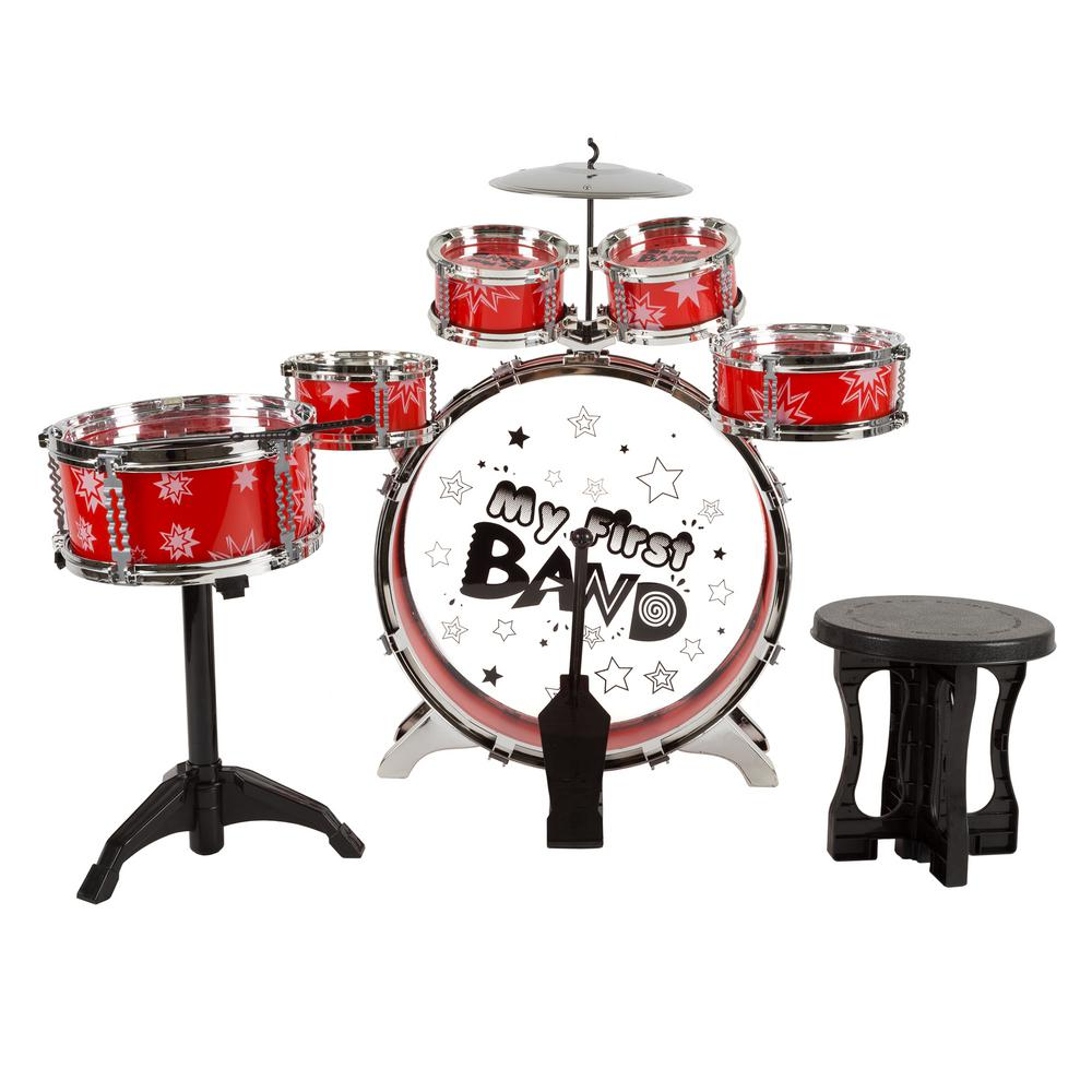 Hey Play 7 Piece Toy Drum Set For Kids M420027 The Home Depot