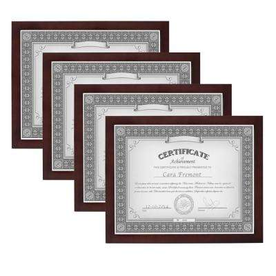 Gallery 8.5 in. x 11 in. Walnut Brown Picture Frame (Set of 4)