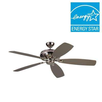 Embassy Max 60 in. Polished Nickel Silver Ceiling Fan