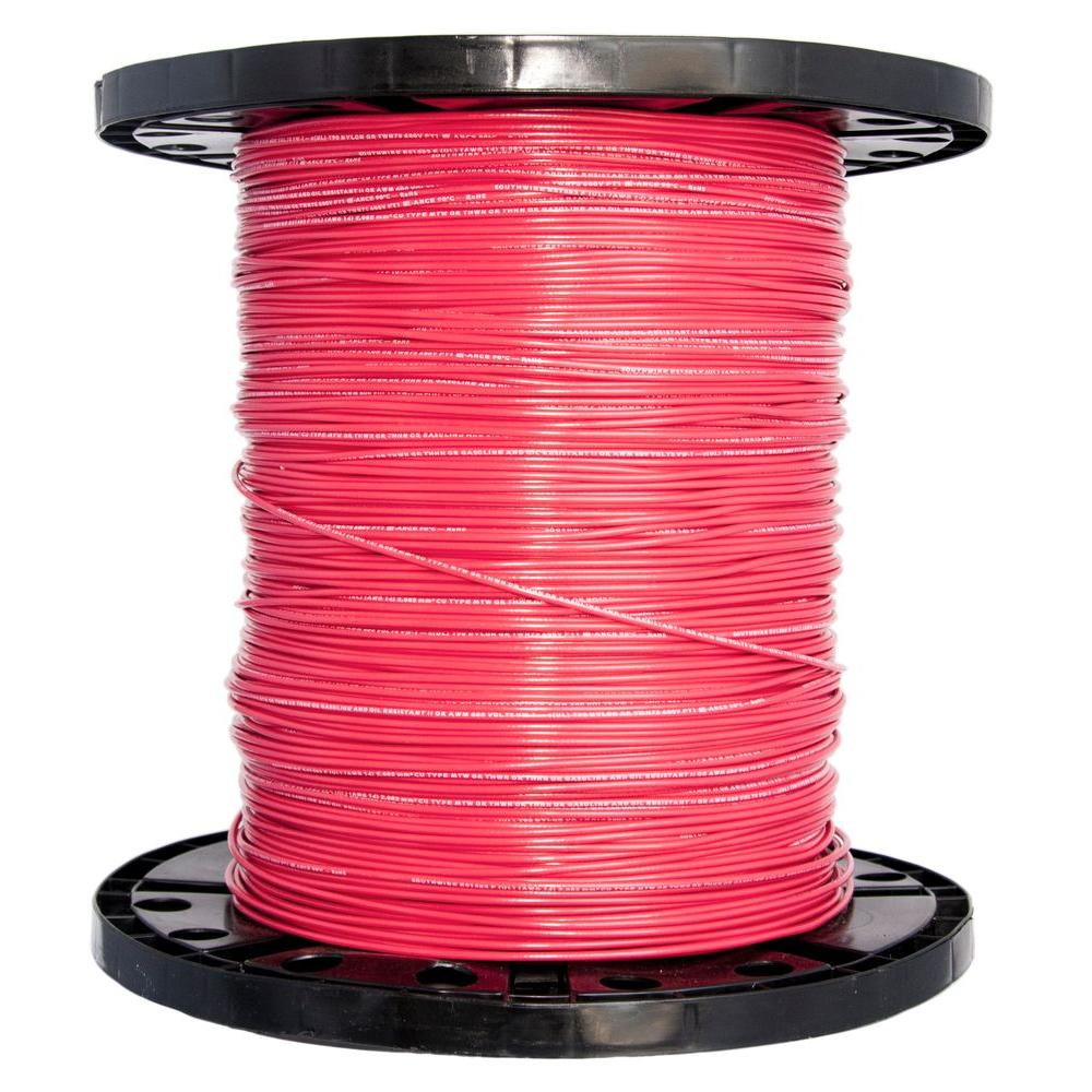 2500 ft. 14 Red Solid CU THHN Wire