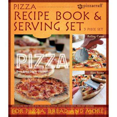 2-Piece Pizza Serving Set and Recipe Book