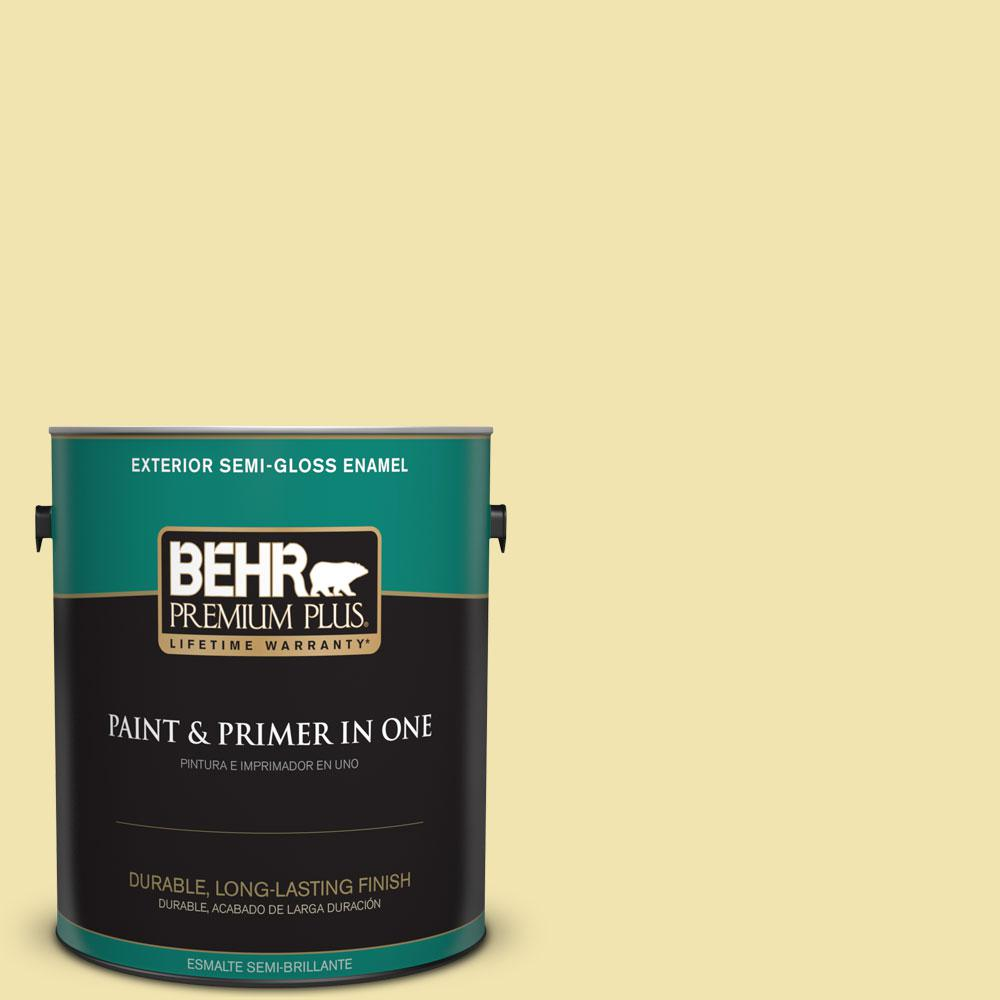 BEHR Premium Plus 1 gal. #P330-2 Lime Bright Semi-Gloss Enamel ...