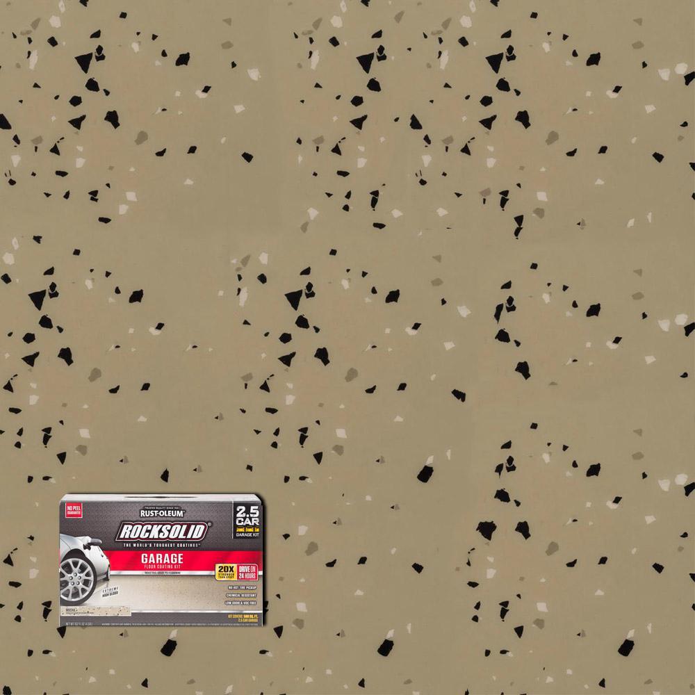 Rust-Oleum RockSolid 152 oz. Mocha Polycuramine 2.5 Car Garage Floor Kit