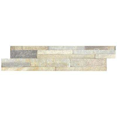 Golden Honey Ledger Panel 6 in. x 24 in. Natural Quartzite Wall Tile (10 cases/80 sq. ft./pallet)