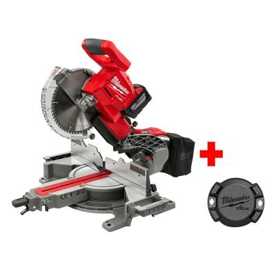 M18 18-Volt FUEL Lithium-Ion Cordless Brushless 10 in. Dual Bevel Sliding Compound Miter Saw Kit with Free ONE-KEY Tick