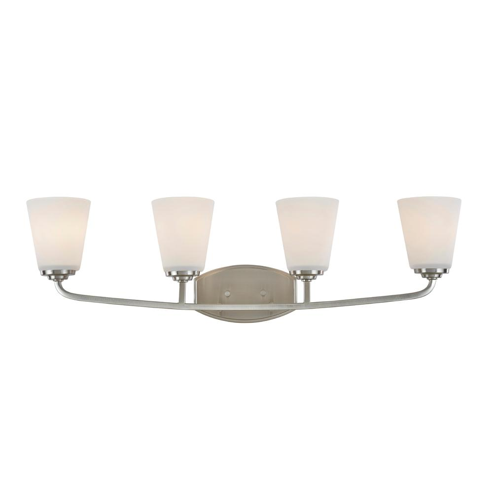 ARTCRAFT Hudson 4-Light Brushed Nickel Sconce