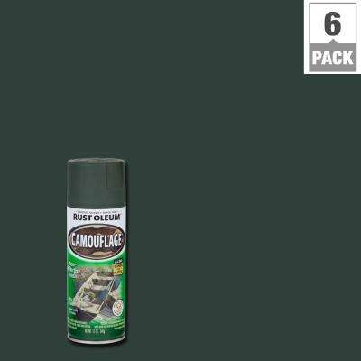 12 oz. Deep Forest Green Camouflage Spray Paint (6-Pack)