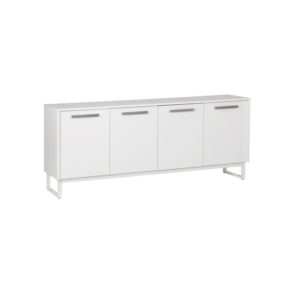 Alaska White 4-Door Storage Cabinet