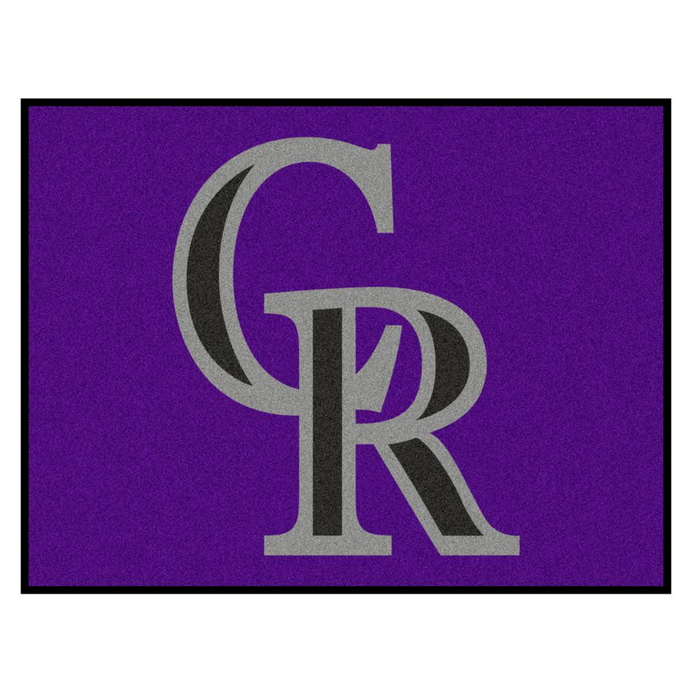 bc46fd98a413a FANMATS MLB Colorado Rockies Purple 3 ft. x 4 ft. Indoor Area Rug ...