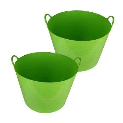 11 Gal. Storage Tub in Green (2-Pack)