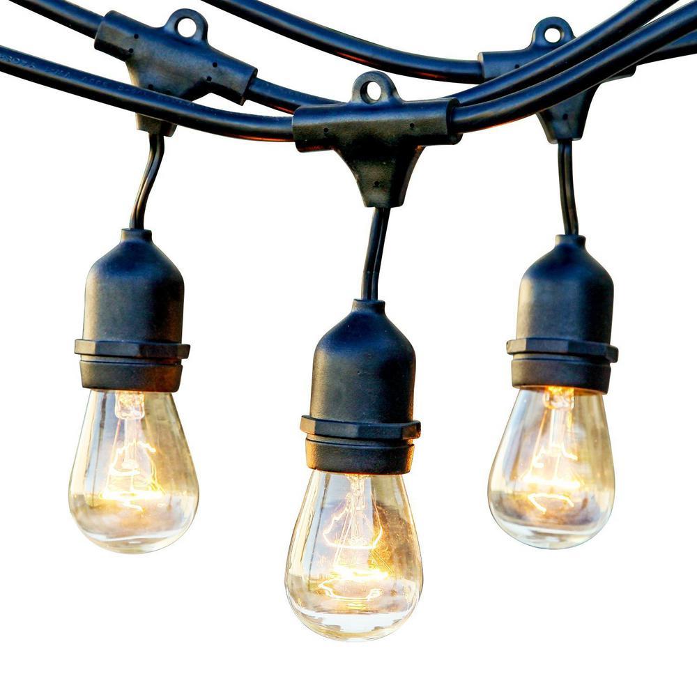 48 ft. 11-Watt Outdoor Weatherproof String Light with S14 Incandescent Light Bulbs Included